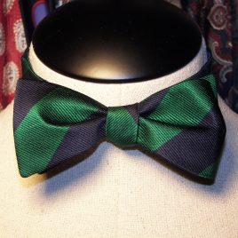 Silk Butterfly (Green/Navy Stripe)