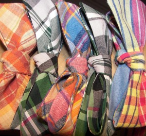 Summer plaid bowties