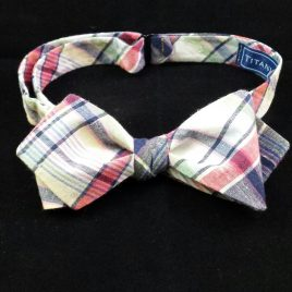 Cotton Diamond-Point (Blue/Green/Red Madras Plaid)