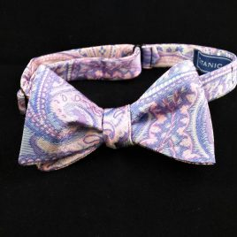 Reversible Silk Butterfly (Pink/Blue Paisley)
