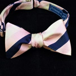 Silk Butterfly (Pink/Navy Stripes)