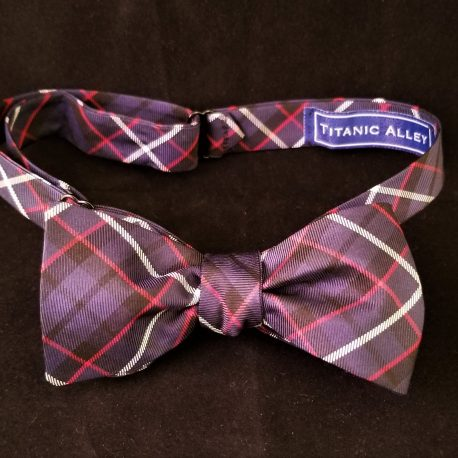 Red white blue plaid tied