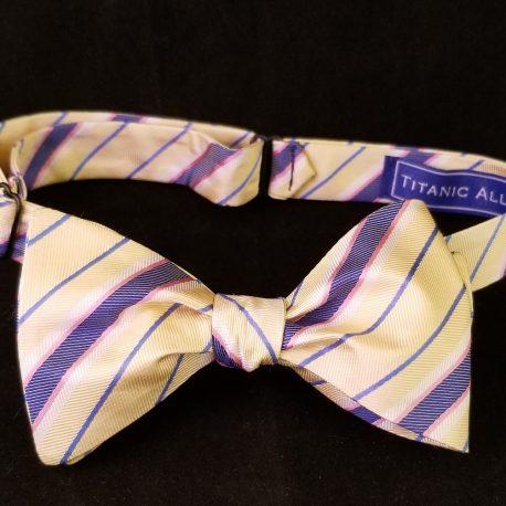Yellow blue stripe tied