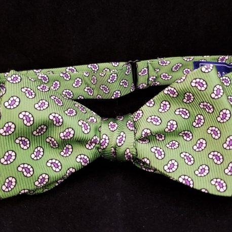 green paisley tied