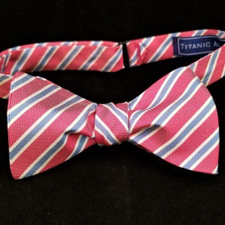 pink blue stripe tied