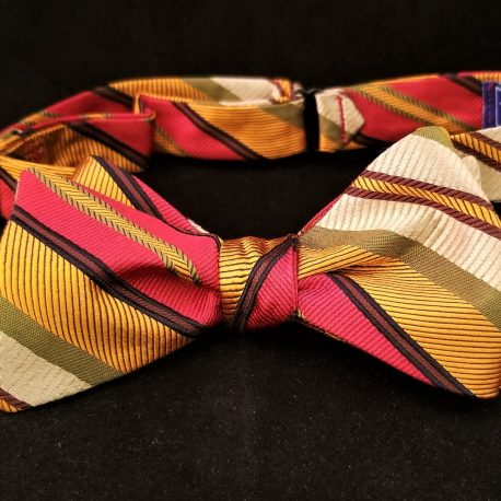 red gold stripe tied