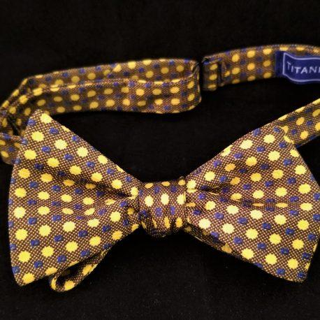 tan gold dots tied