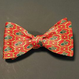 Silk Butterfly (Orange & Green Paisley)