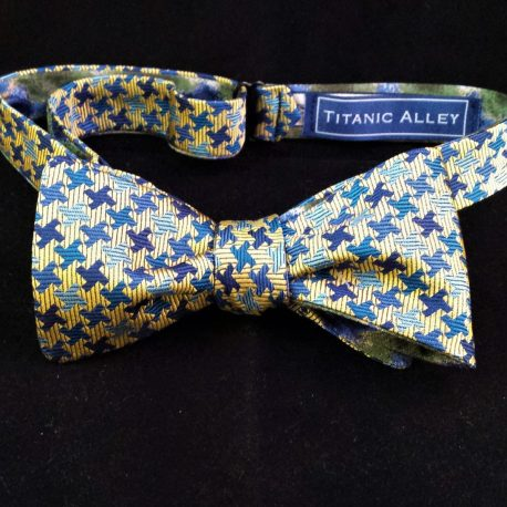 blue houndstooth front