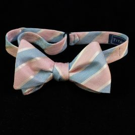 Silk Butterfly (Pink/Blue Stripes)