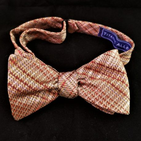 gold plaid bf tied
