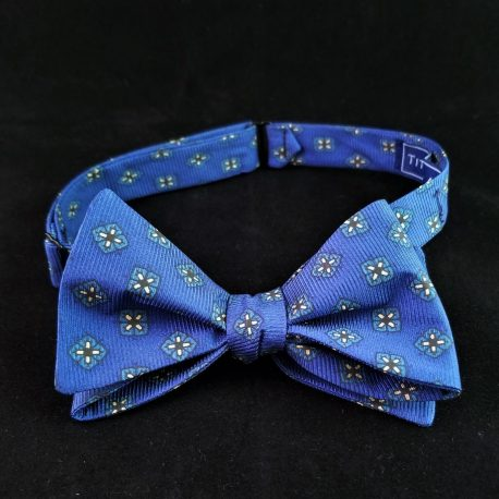 Royal blue butterfly tied