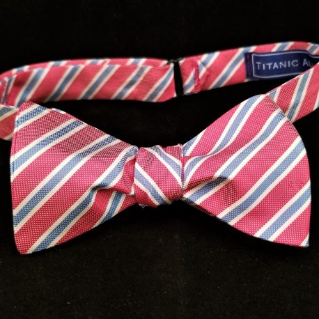 pink blue stripe tied