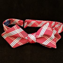 Silk Diamond-Point (Red & Blue Plaid)