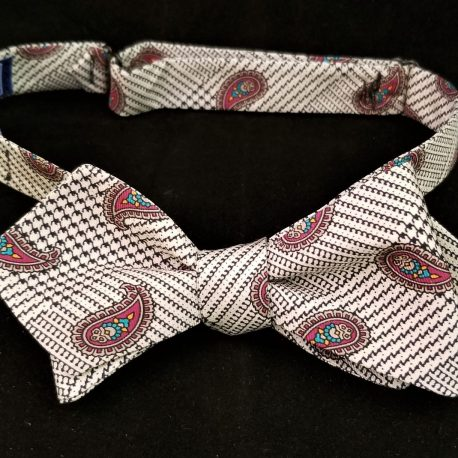 white plaid paisley dp tied